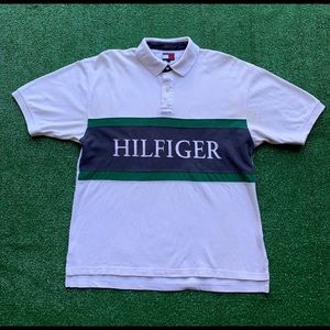 Tommy Hilfiger Spellout Rugby Polo Shirt